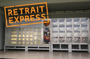 retrait distributeur express